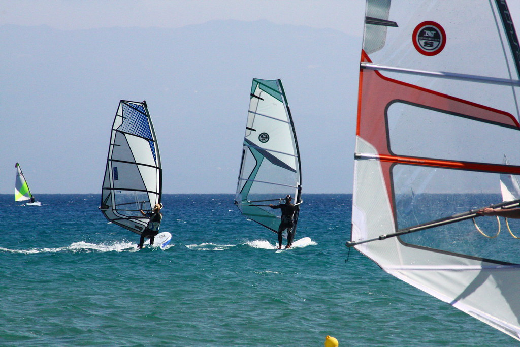 Windsurfing in Greece flickr image by RobertSharp
