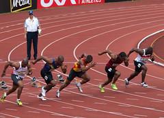 Heat 3 of the Mens 100m Semi-Final