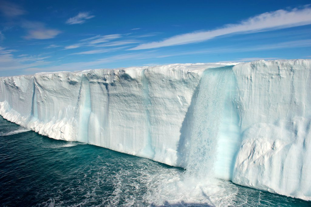 Picture of the Day: Glacial Waterfalls