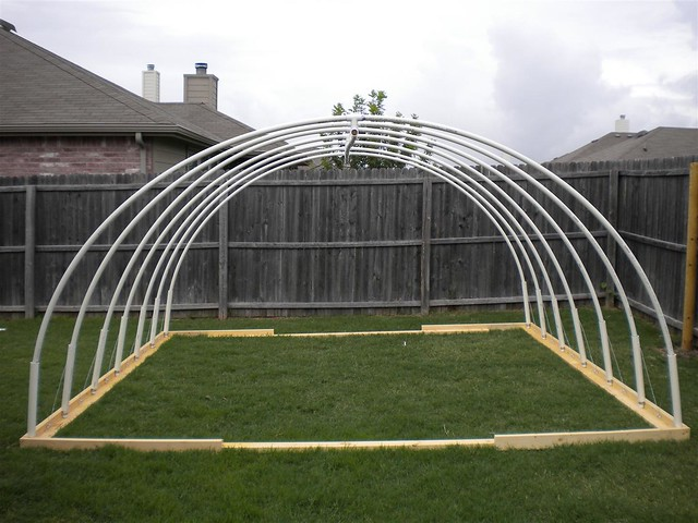 12 39 x 13 39 pvc vegetable greenhouse frame flickr photo