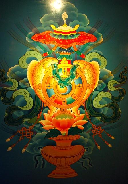 Eight Auspicious Symbols Wall Mural Tibetan Buddhist