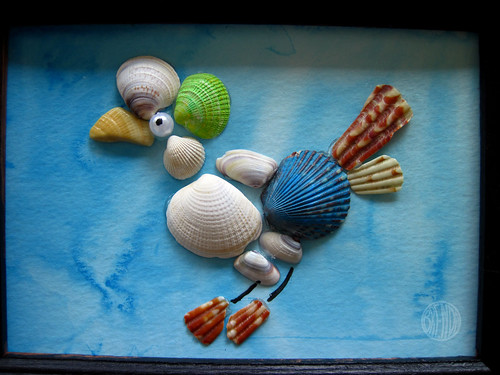 Sea shell art craft alpha mom for Arts and crafts with seashells