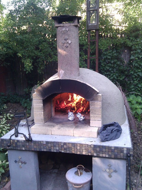 for pizza in mark 39 s diy backyard brick oven flickr photo sharing