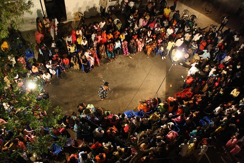 <p>Dancer Maman Diallo dances a final dance in her sabar circle as the night draws to a close at 4 a.m.</p>