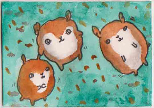 happy hamsters