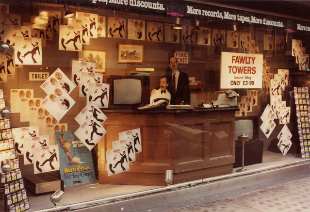 hmv 363 Oxford Street, London - Fawlty Towers 'Second Sitting' LP release 1981