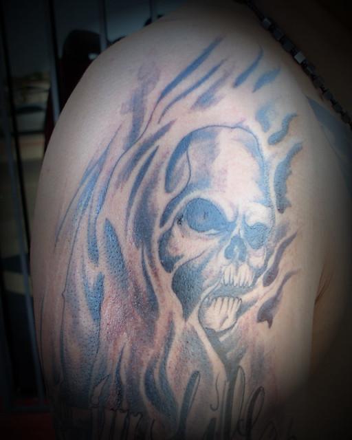 free-hand grim reaper