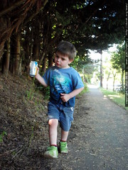 marching home with his very own can of apricot necta…