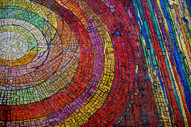 Mosaic mural downtown dallas church flickr photo sharing for Mural mosaic