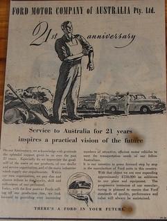 1946 Ford 21st Anniversary in Australia Ad