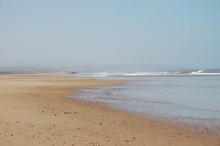 Sandy beach görüntü.