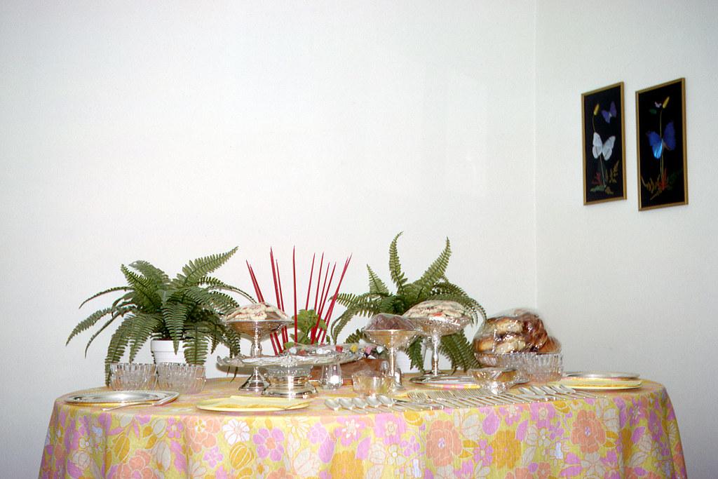 Mom's second luau table