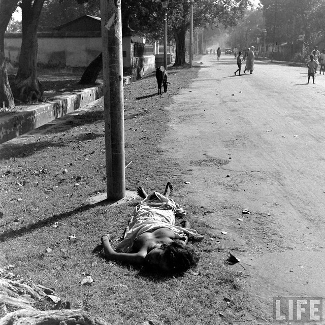 Girl who died in her sleep from starvation, Calcutta 1943, by William Vandivert