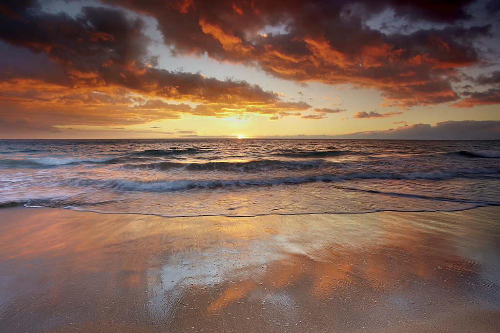 Mango Skies - Hapuna Beach, Big Island, Hawaii