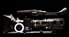 Z1U set up with redrock micro film lens adapter.