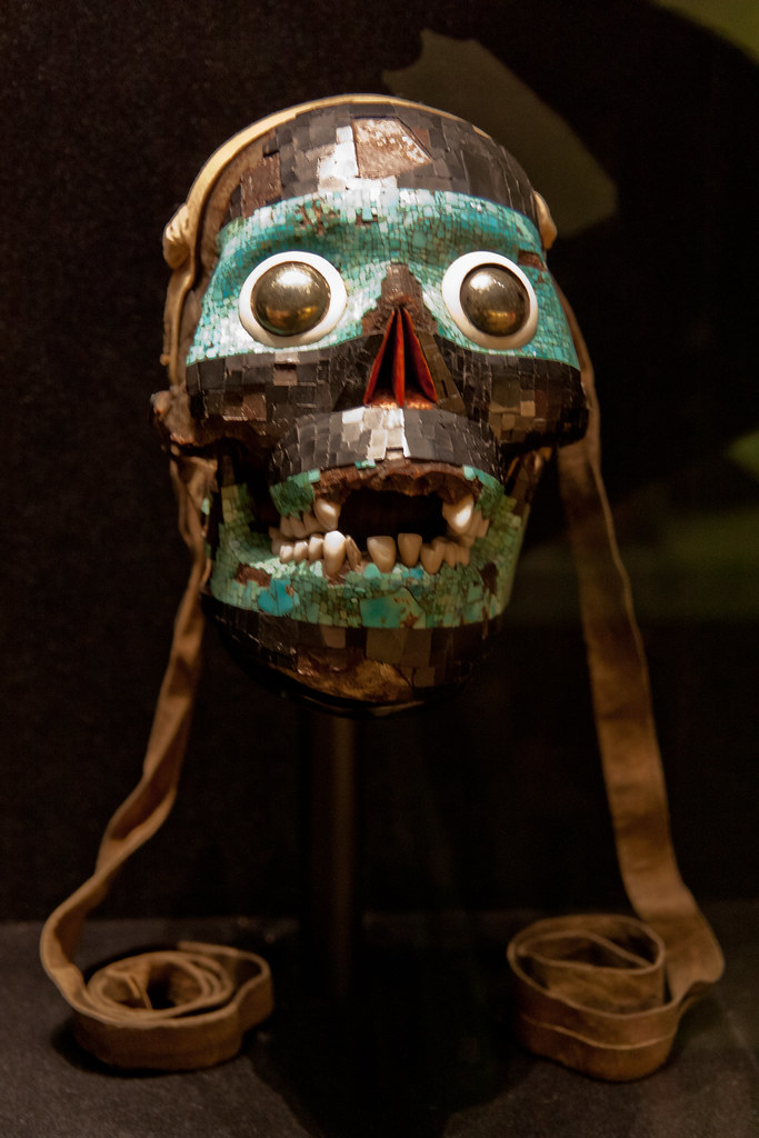 Mosaic Mask of Tezcatlipoca15th-16th century AD   The British Museum allows photo shooting providing there is no financial gain.  Please respect their policy
