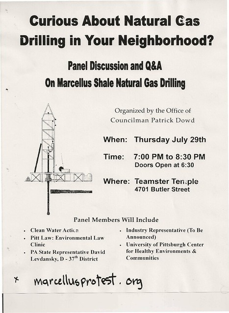 Townhall meeting in Lawrenceville regarding Fracking in the City of Pittsburgh