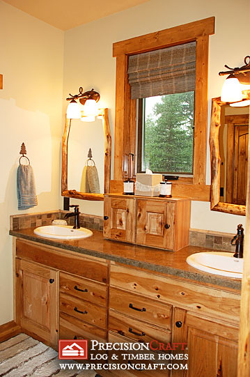 Master Bathroom Timber Accent Home Precisioncraft