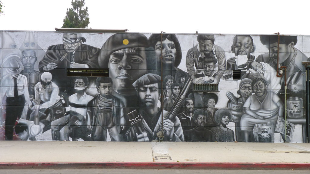 Black panther history mural for Black history mural