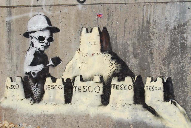 images of Banksy Tesco Bag Graffiti Flickr Photo Sharing