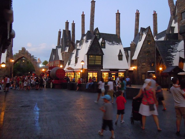 Uncrowded Hogsmeade Village