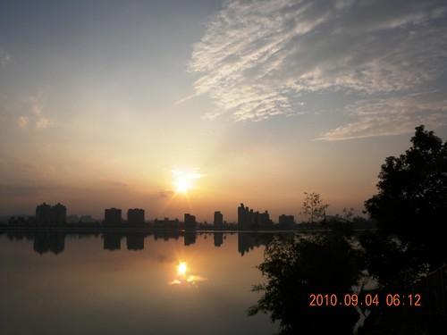sunrise 澄清湖 晨運