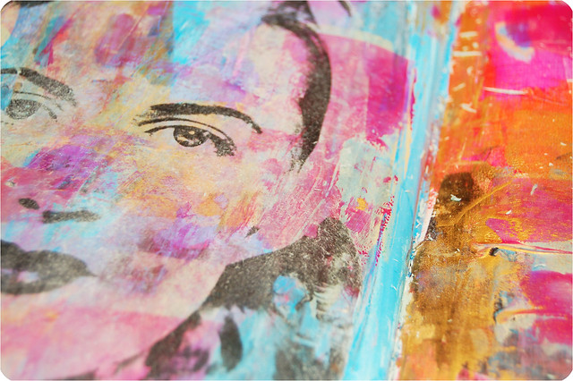Peeking through - an image transfer how to by iHanna #imagetransfer #artjournaling
