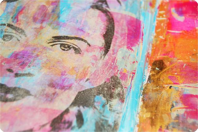Peeking through - an image transfer how to by iHanna #imagetransfer #artjournaling