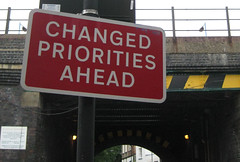Changed Priorities Ahead