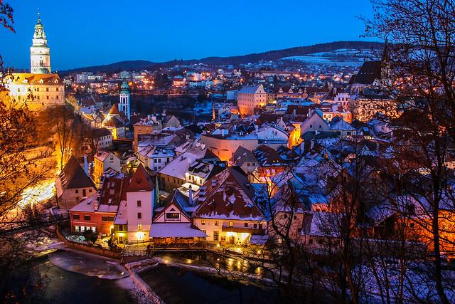 Cesky Krumlov Christmas town