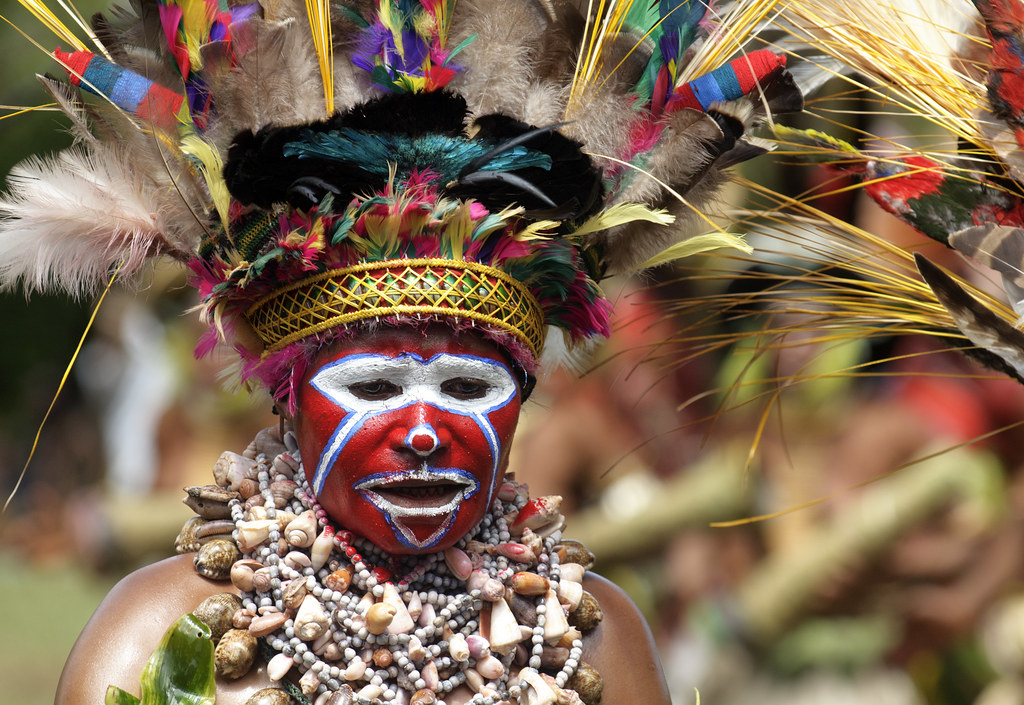 Colorful Ius Meri Woman at the Mount Hagen Festival