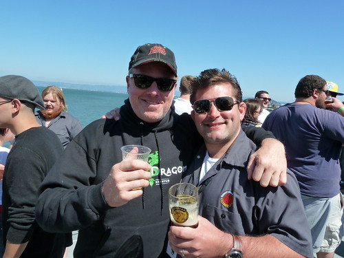 Shaun O'Sullivan, from 21st Amendment, and Brendan Dobel, Thirsty Bear