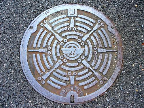 Kasamatsu Gifu,manhole cover(岐阜県笠松町のマンホール)