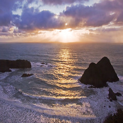 Winter Sunset, Mendocino Coast