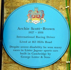 Photo of Archie Scott-Brown blue plaque