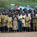 Audience of kids during a hip hop show, Rwanda by Eric Lafforgue
