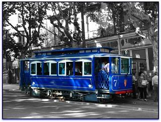 Tramvia Blau, Plaça Kennedy, Barcelona