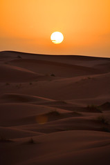 Sunset at Erg Chebbi Desert, Morocco