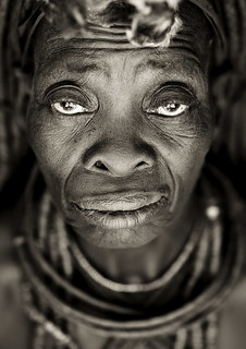 Old Himba woman face - Angola