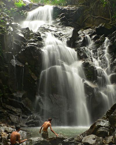 travel boys water trekking waterfall rocks panasonic myanmar fz5 cascade dmc kyaikhtiyo platinumphoto