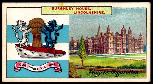Cigarette Card - Burghley House