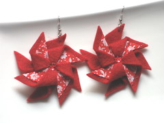 "Earrings ""Pinwheel"""