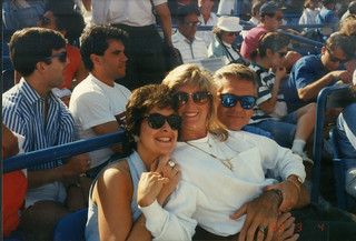 at the 1989 US Open with new (and short-lived) friends