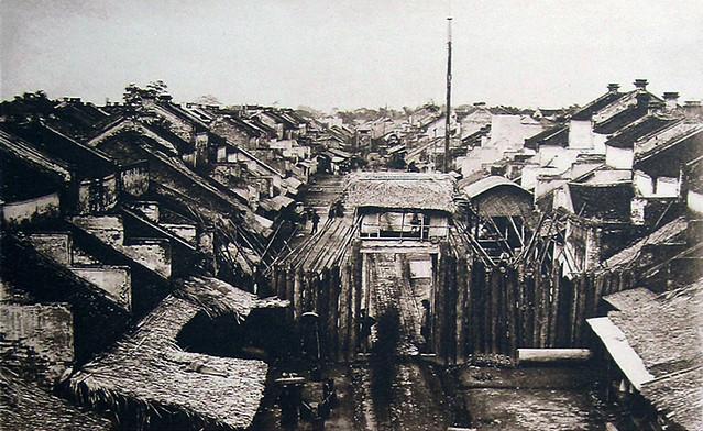 cửa ô Quan Chưởng năm 1884, ảnh chụp của Bác sĩ Hocquard