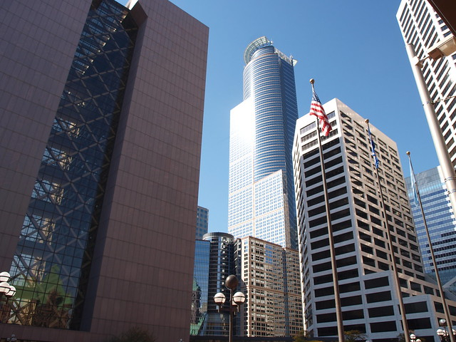 Capella Tower above the skyline