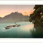 The Lake of the Four Cantons evening tints Lake Lucerne Switzerland