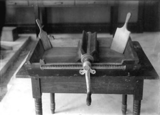 Butter works and paddles in dairy lab of the agricultural experiment station