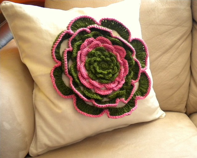 Granny Gee's Crocheted Pillow Cover | FaveCrafts.com