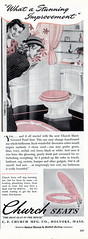 Vintage Toilet Seat Advert, This Time in Pink