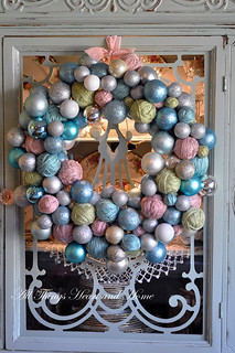 Yarn Ball and Ornament Wreath!